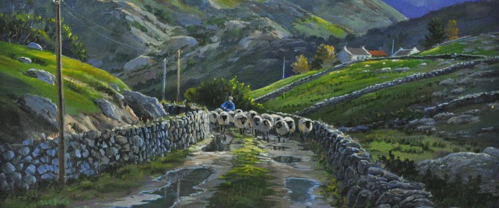 Connemara, Western Ireland: Bringing in the Sheep - Acrylics & Oils - Original Artwork - Acrylics, Oils & Watercolours