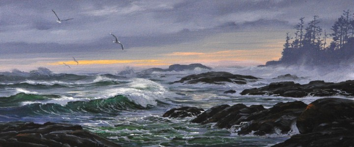 Echachis Winter Swell - Acrylics & Oils - Original Artwork - Acrylics, Oils & Watercolours