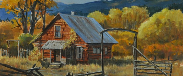 Hat Creek Homestead - Acrylics & Oils - Original Artwork - Acrylics, Oils & Watercolours