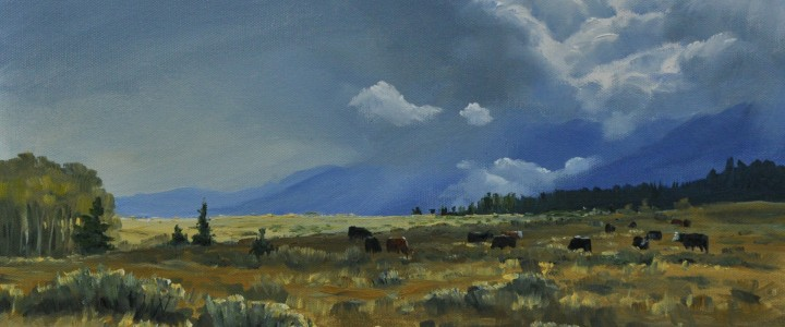 Stormy Skies Over Hat Creek - Acrylics & Oils - Original Artwork - Acrylics, Oils & Watercolours