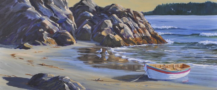 Lighthouse Trail Last Cove - Acrylics & Oils - Original Artwork - Acrylics, Oils & Watercolours