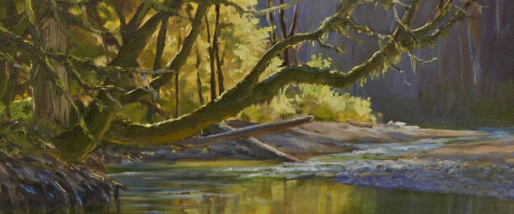 Maples Along The Englishman River  - All Originals Available - Original Artwork - Acrylics, Oils & Watercolours