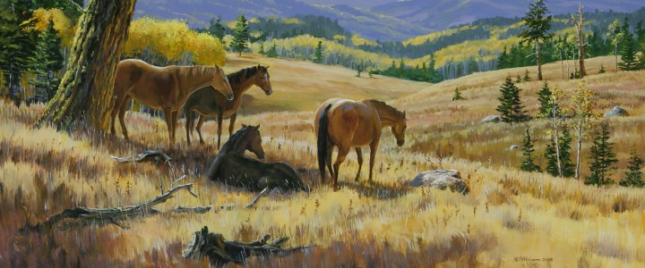 Horses: Midday Hangout - Giclees - Artwork Reproductions - Giclees, Paper Prints, Prints and Gift Store