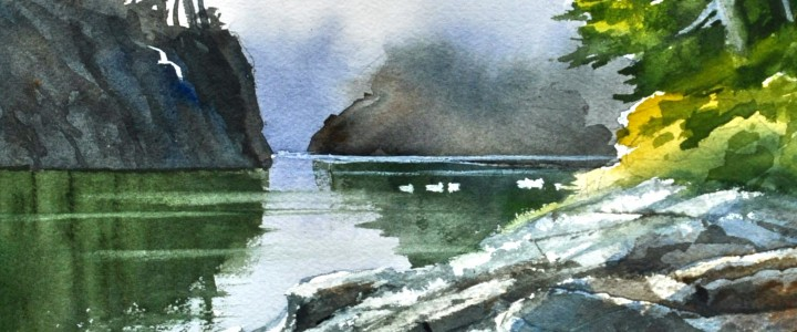 Morning Mist Through the Narrows - All Originals Available - Original Artwork - Acrylics, Oils & Watercolours