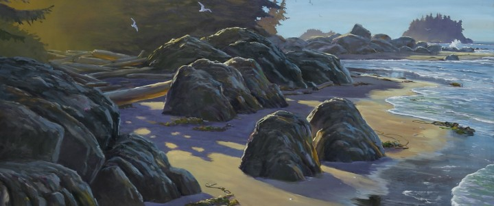 Morning Shadows Across Barkley Sound - Giclees - Artwork Reproductions - Giclees, Paper Prints, Prints and Gift Store