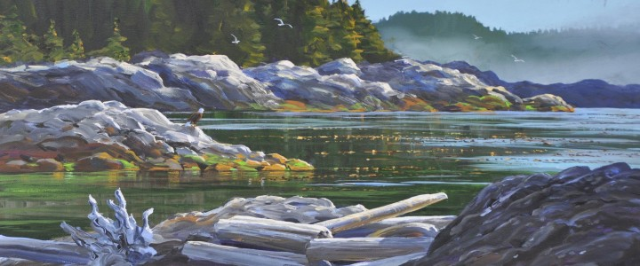 Moser Point Summer Mists - Acrylics & Oils - Original Artwork - Acrylics, Oils & Watercolours