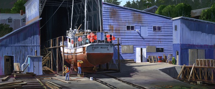 Nanaimo Shipyard: Restoring The Jolly Roger - Giclees - Artwork Reproductions - Giclees, Paper Prints, Prints and Gift Store