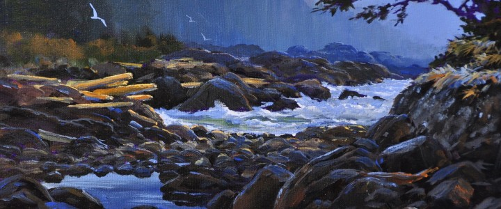 Near Brown's Beach - Acrylics & Oils - Original Artwork - Acrylics, Oils & Watercolours
