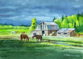Old Barns Near Quesnel