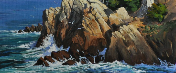 Point Lobos - Acrylics & Oils - Original Artwork - Acrylics, Oils & Watercolours