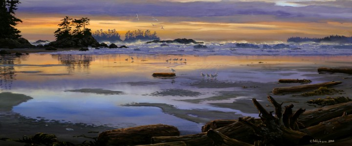 Schooner Cove at Sunset - Giclees - Artwork Reproductions - Giclees, Paper Prints, Prints and Gift Store