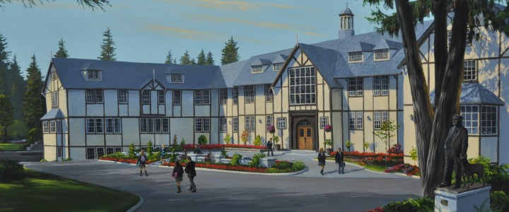 Shawnigan Lake School - Acrylics & Oils - Original Artwork - Acrylics, Oils & Watercolours
