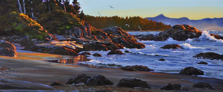 Shell Beach at Sunset - Acrylics & Oils - Original Artwork - Acrylics, Oils & Watercolours