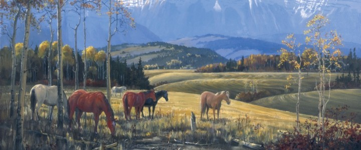 Horses: Siesta in the Foothills - Giclees - Artwork Reproductions - Giclees, Paper Prints, Prints and Gift Store