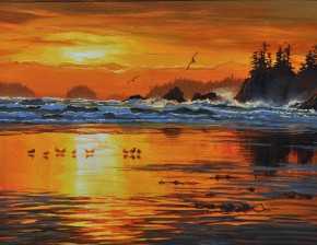 Sunset at West Beach: Calvert Island