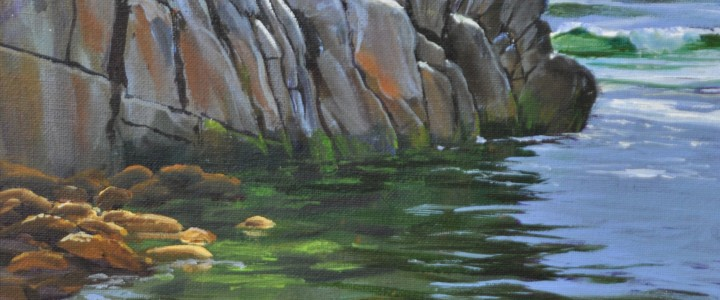 The Corner of West Beach: Calvert Island - Acrylics & Oils - Original Artwork - Acrylics, Oils & Watercolours