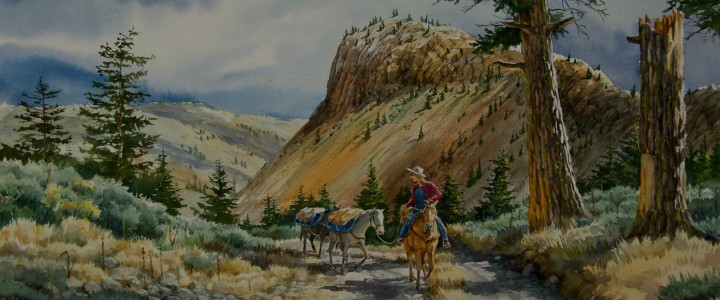Trail From Churn Creek - Watercolours - Original Artwork - Acrylics, Oils & Watercolours