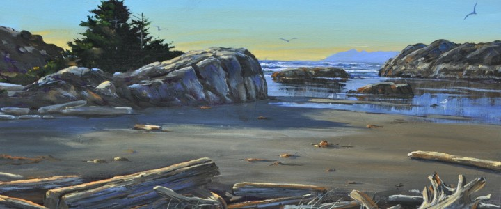 Wickaninnish Beach: June Afternoon - Acrylics & Oils - Original Artwork - Acrylics, Oils & Watercolours