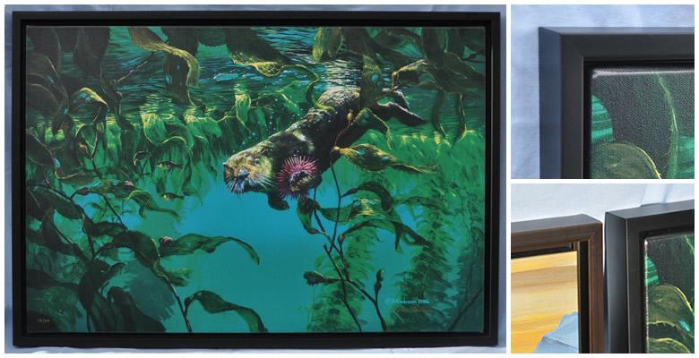 Floater frame options for Mark Hobson giclee prints