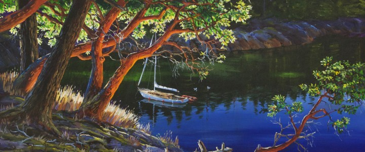 Arbutus Cove - Acrylics & Oils - Original Artwork - Acrylics, Oils & Watercolours