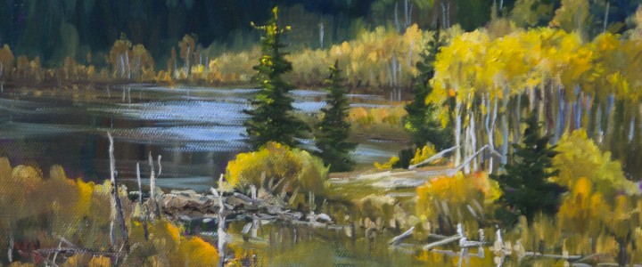 Beaver Ponds Along Oregon Jack Road - Acrylics & Oils - Original Artwork - Acrylics, Oils & Watercolours