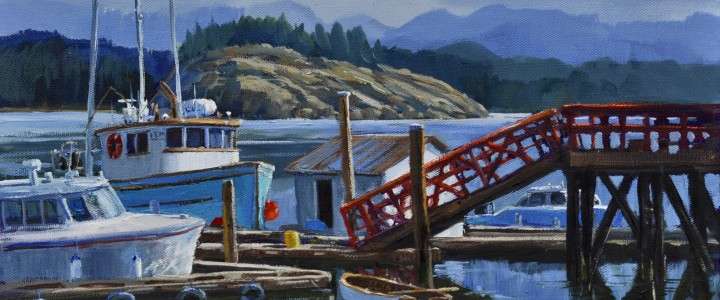 Quadra Island- Heriot Bay - All Originals Available - Original Artwork - Acrylics, Oils & Watercolours