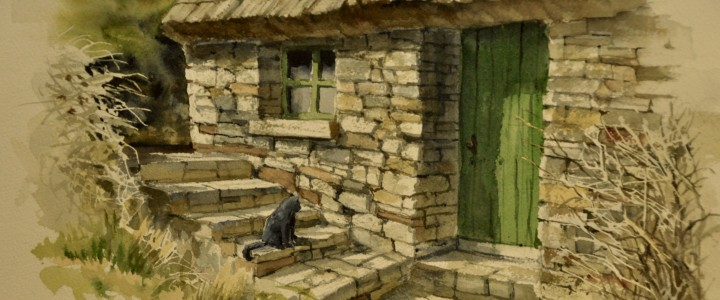 Cottage in Falmore: Donegal, Ireland - Watercolours - Original Artwork - Acrylics, Oils & Watercolours