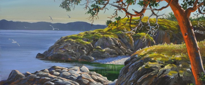 Pipers Lagoon Park Nanaimo - Acrylics & Oils - Original Artwork - Acrylics, Oils & Watercolours