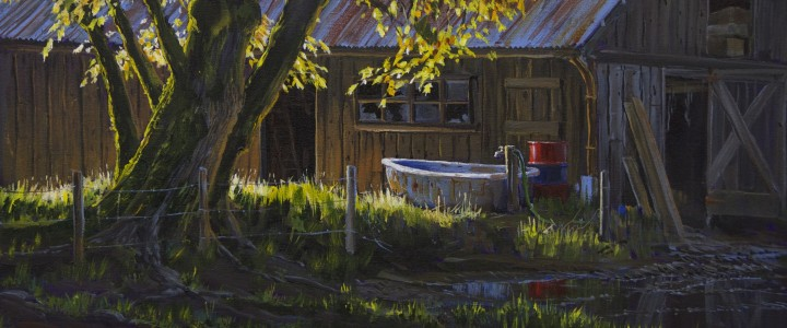 The Water Trough: Comox Valley - Acrylics & Oils - Original Artwork - Acrylics, Oils & Watercolours