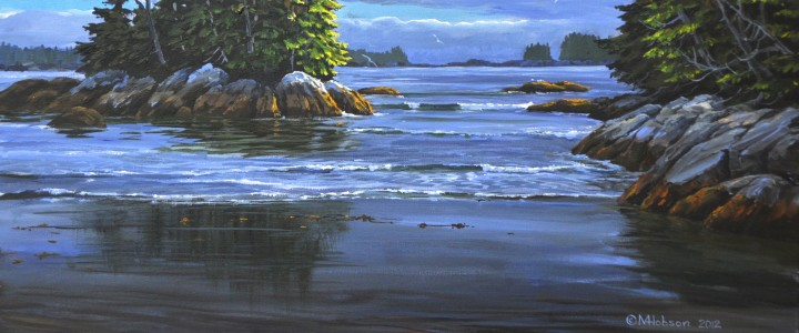 West Beach: Calvert Island - Acrylics & Oils - Original Artwork - Acrylics, Oils & Watercolours